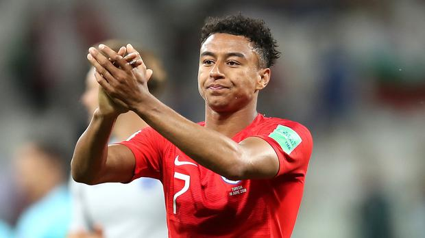 England's Jesse Lingard acknowledges fans at the 2018 World Cup – (Adam Davy/PA)