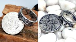 Two rings made from coins by Celtic Coin Craft – (Pictures courtesy of Celtic Coin Craft)