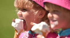 Ice cream shops are expected to be busy as the nice weather rolls in