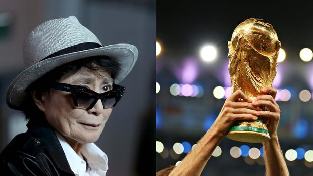 Yoko Ono's World Cup tweet has resurfaced (Jason Roberts/PA, Mike Egerton/PA)