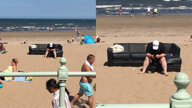 'Only in Scotland would you get somebody taking their L-shaped sofa doon the beach' (Pauline McGinley Gilgallon)