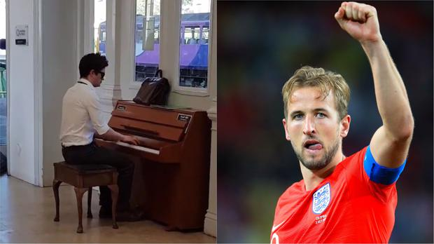 Pianist and Harry Kane (@DaTownend/Twitter)
