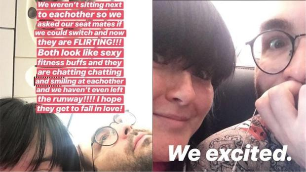 Woman Documents Plane Passengers' Meeting On Twitter