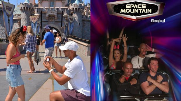 A Disneyland proposal followed by a celebration on Space Mountain – (@sonni_nicolette/Twitter)