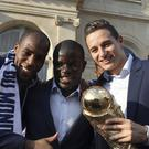France footballers celebrate winning the 2018 World Cup – (Ludovic Marin/AP)