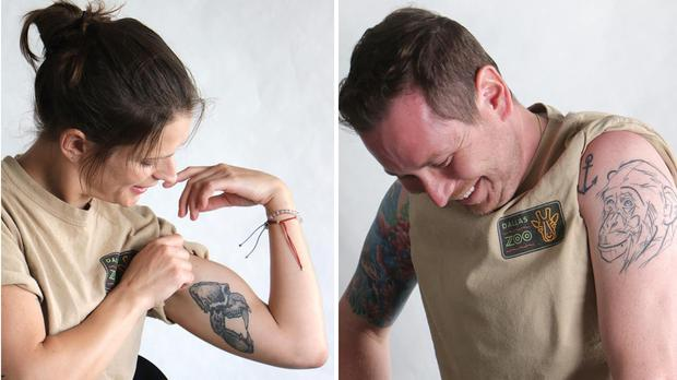 Keepers from Dallas Zoo show off their tattoos (Dallas Zoo)
