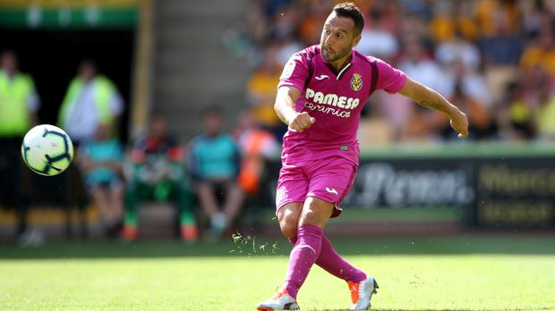 Villarreal footballer Santi Cazorla plays in a pre-season game (Nick Potts/PA)