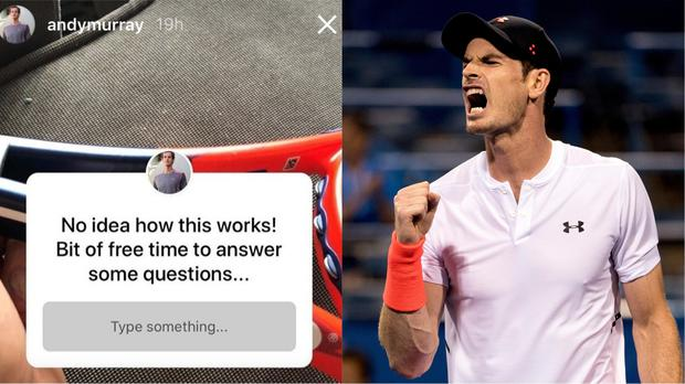 Tennis player Andy Murray ran a QandA on his Instagram story (Andy Murray/Instagram, Andrew Harnik/AP)