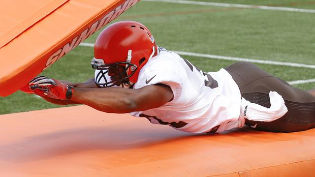 Nick Chubb of the Cleveland Browns during training – (Ron Schwane/AP)