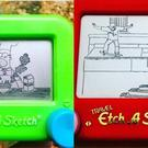 Etch a Sketch toys (Ryan Burton)