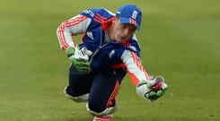 England's Jos Buttler during a training session at Lord's Cricket Ground, London (Simon Cooper/PA)
