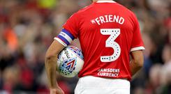 The back of Middlesbrough's George Friend's shirt – (Richard Sellers/PA)
