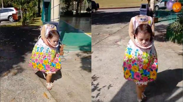 934fc75ef4bf Two-year-old girl wows social media with realistic 'headless ...