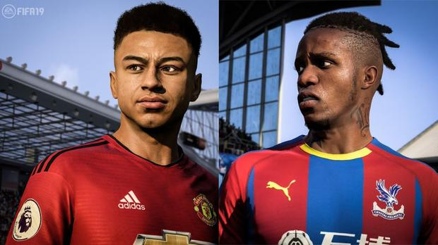 Lingard and Zaha with their new in-game haircuts (EA Sports)