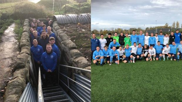 Footballers from England and Germany came together for a special weekend of remembrance – (Kevin Franks)