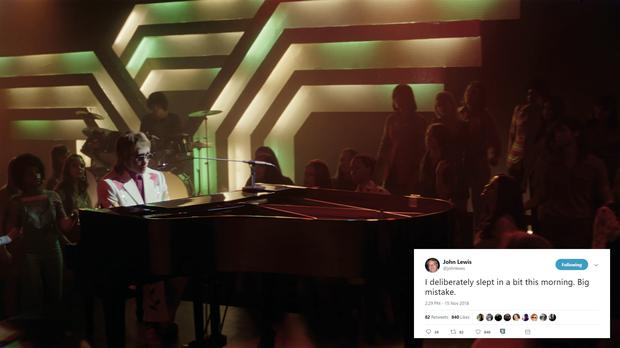 This year's advert stars Elton John singing his hit Your Song (John Lewis and Partners/Twitter)
