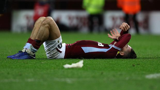 Aston Villa's Jack Grealish after the 5-5 thriller (Aaron Chown/PA)