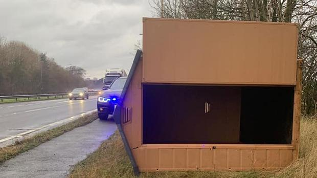 The shed found on the A19 (Durham Constabulary/PA)