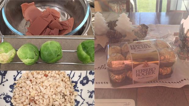 Brussel sprouts made to look like chocolates for a Christmas prank – (Pictures courtesy of Judy Brown)