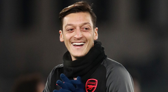 Tonight provides the perfect setting for Mesut Ozil to show he is worth his £350,000-a-week contract. Photo: PA