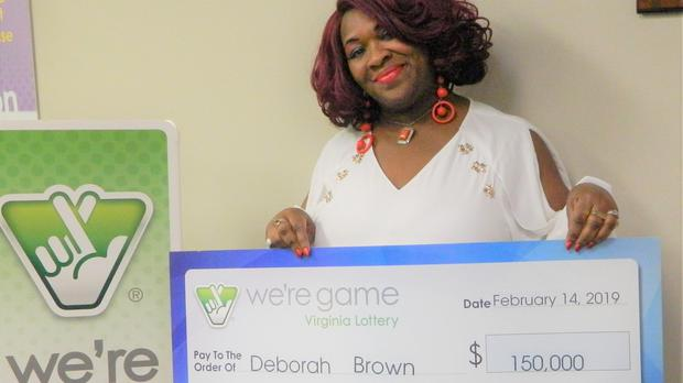 Deborah Brown purchased 20 Pick 4 tickets with the numbers 1-0-3-1, and won with all of them. (Virginia Lottery)