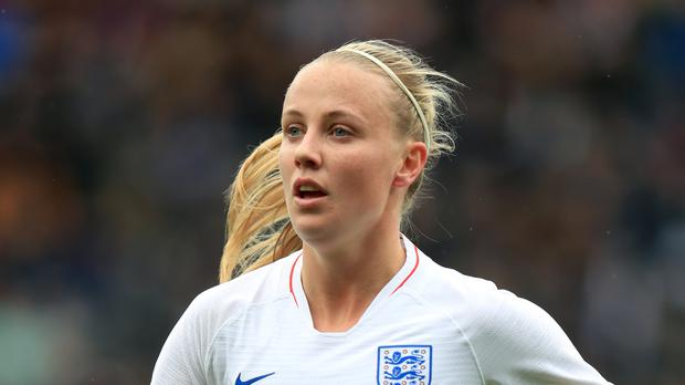 Beth Mead has now scored identical stunning goals for England and Arsenal. (Mike Egerton/PA)
