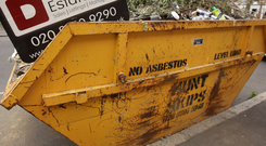 'Anthony told me of how his customers told him the filling of the skip was like watching a documentary of the story of their lives' (stock photo)