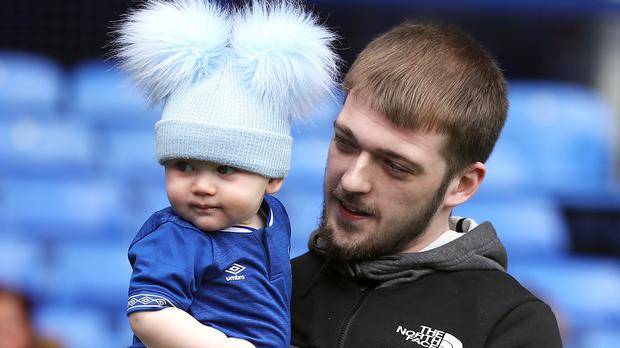 Tom and Thomas Evans (Peter Byrne/PA)