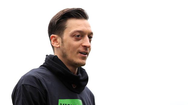 Arsenal's Mesut Ozil has met a young fan who has a rare eye disease (Peter Byrne/PA)