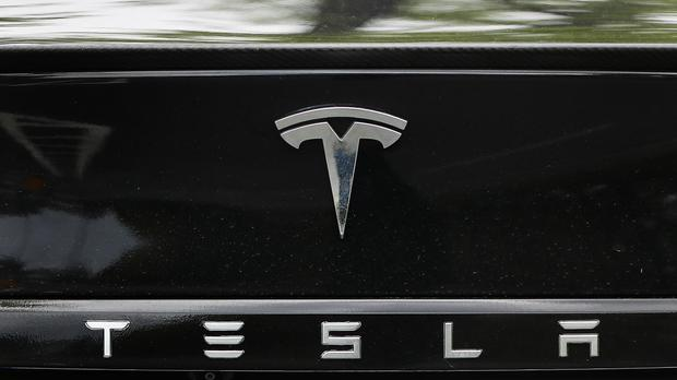 Tesla shares dropped 2pc in pre-market trading yesterday. Photo: Niall Carson/PA