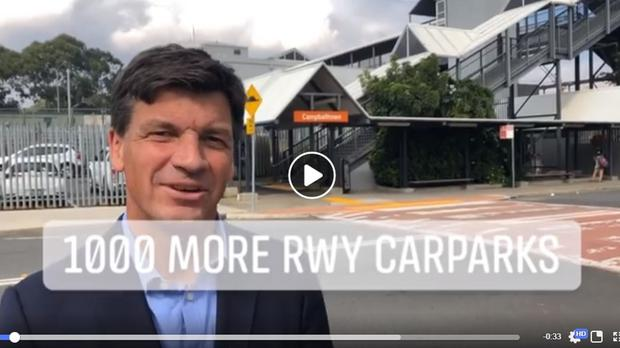 A screen grab of a video from Angus Taylor MP's Facebook page (Angus Taylor MP/Facebook)