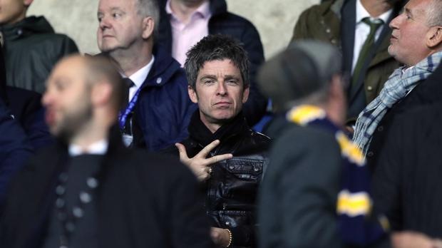 Noel Gallagher in the stands during a Carabao Cup third round match (Andrew Matthews/PA)