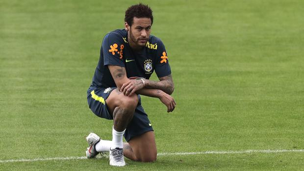 Neymar reacted badly to being nutmegged (Silvia Izquierdo/AP)