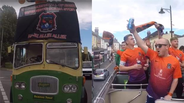 Duckpond FC celebrate winning their Sunday league with an open-top bus parade (Matthew Friend/Duckpond FC)