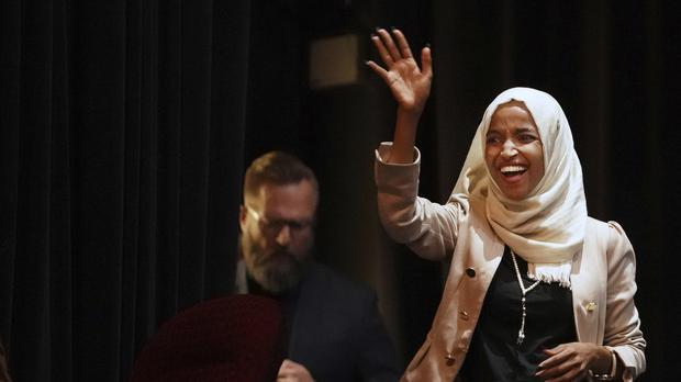 US representative Ilhan Omar has been targeted by Donald Trump (Richard Tsong-Taatarii/Star Tribune via AP)