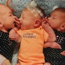 Triplets born to Dannette Giltz, who thought she had kidney stones (Dannette Giltz)