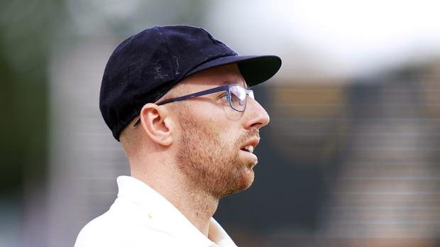 England's Jack Leach during day two of the Ashes Test match at Lord's, London.