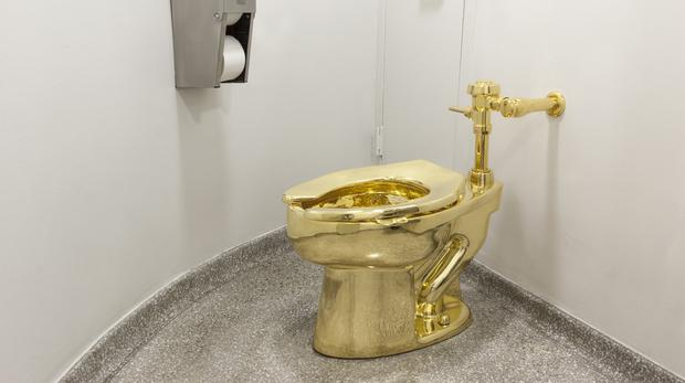 A solid gold toilet which has been stolen from Blenheim Palace (Jacopo Zotti (Guggenheim Museum 2016/PA)
