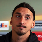 Zlatan Ibrahimovic. Photo: Peter Byrne/PA