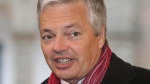 Belgium's foreign minister Didier Reynders has sparked controversy after appearing at a charity event with a blackened face