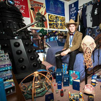 Doctor Who fanatic Tom Nichols, who is offering overnight stays in his memorabilia filled home to raise money for the Scout Association (Andy Tyler/PA)
