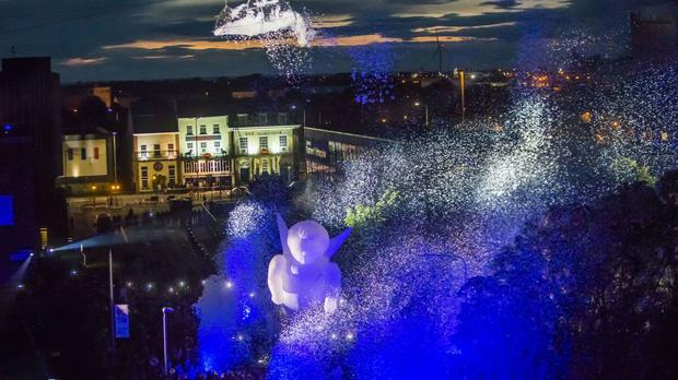 The Place des Anges spectacle in Hull, which was part of UK City of Culture 2017 celebrations.