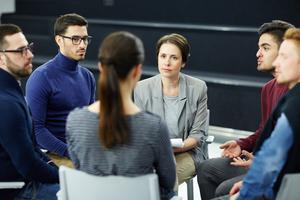 Students discussing issues (Shironosov/Getty Images)