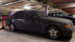 A Mercedes abandoned in a Birmingham multi-storey car park more than two years ago has racked up £9,000 in parking charges