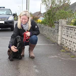 Cocker spaniel Lexi and her owner Vicky Lovelock (Hampshire Fire and Rescue Service/PA)
