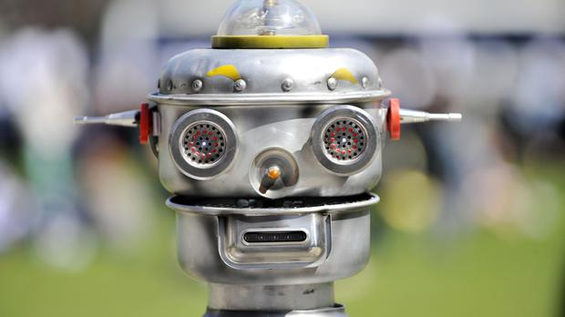 A robot in London's Parliament Square, during a photocall for the Campaign to Stop Killer Robots
