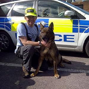 German shepherd Troy was called to investigate after the owner of a Mercedes reported that it had been stolen