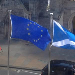 The Flag of Europe outside Holyrood was spotted flying with just 11 stars