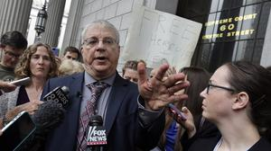 Steven Wise, president of the Nonhuman Rights Project, answers a question outside Manhattan State Supreme Court, in New York, after a hearing (AP)