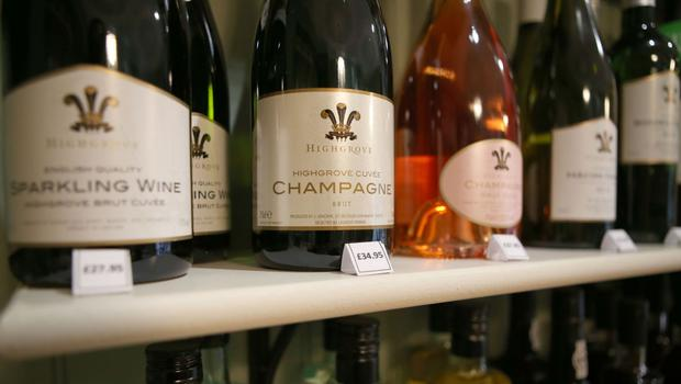 Sparkling wine and champagne sales soared before Christmas